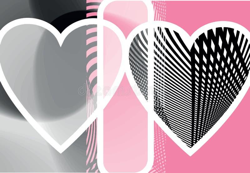 Ilustração abstrata do coração ilustração royalty free