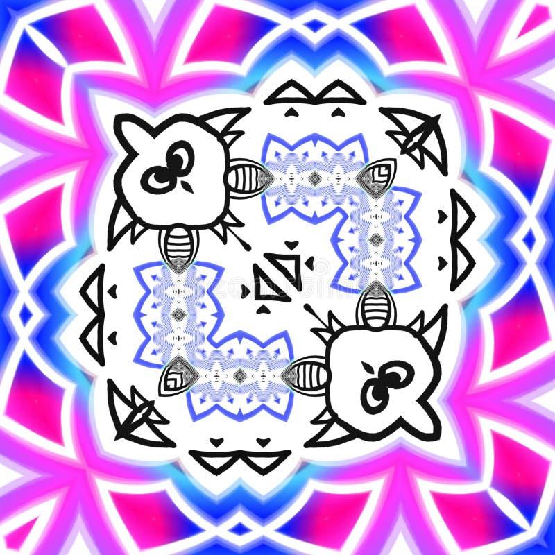 Ilustração abstrata do esboço dos desenhos animados imagens de stock