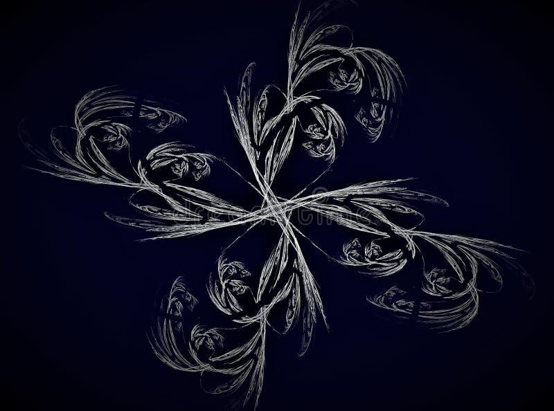 Ilustração abstrata do fractal Colagem de Digitas ilustração do vetor