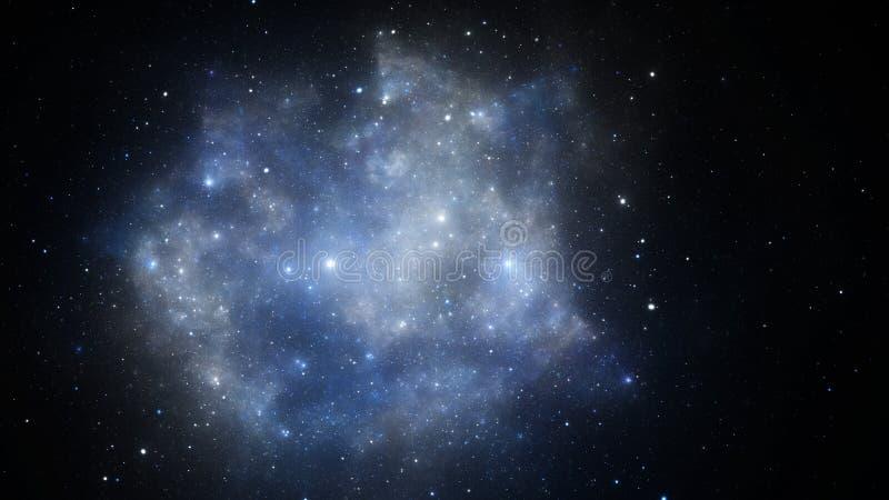 A ilustração abstrata do fractal olha como galáxias ilustração stock