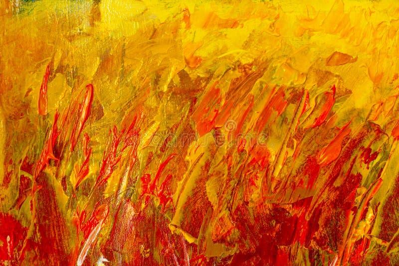 Ilustração abstrata do fragmento da pintura papel de parede com marcas da faca de paleta Óleo na textura da lona abstraia o fundo ilustração do vetor