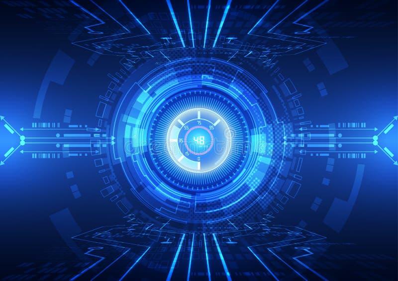 Ilustração abstrata do fundo da tecnologia do Internet da velocidade do vetor olá! ilustração royalty free