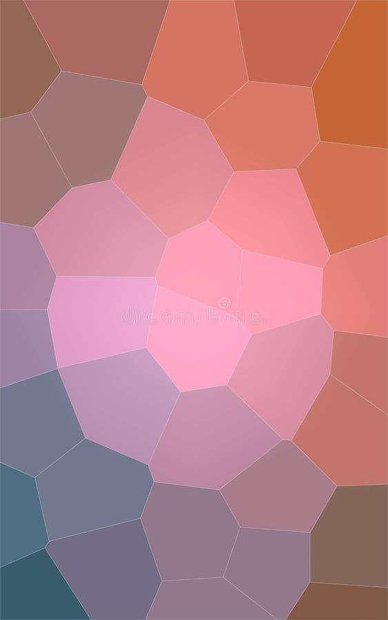Ilustração abstrata do fundo gigante alaranjado e azul cor-de-rosa vertical do hexágono, gerada digitalmente ilustração royalty free
