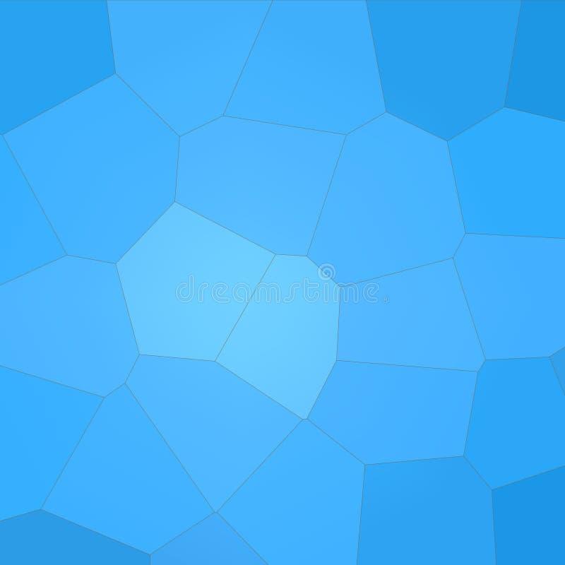 Ilustração abstrata do fundo gigante azul do hexágono do trapaceiro quadrado, gerada digitalmente ilustração stock