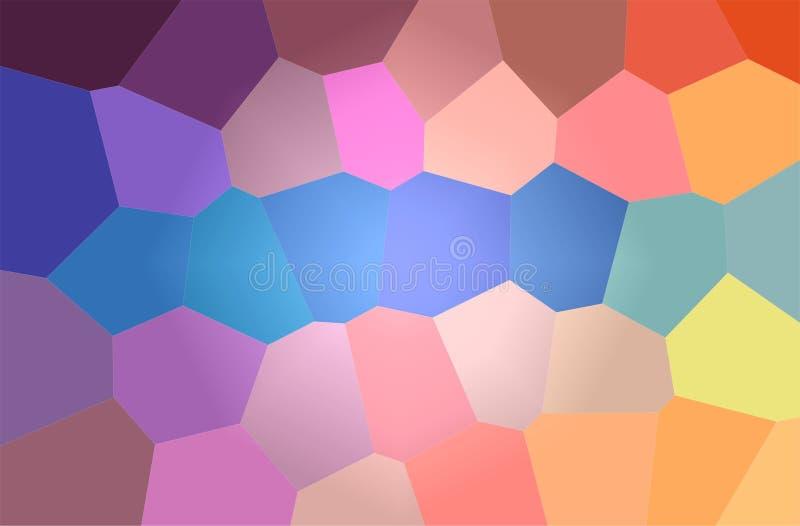 Ilustração abstrata do fundo gigante brilhante azul, roxo e amarelo do hexágono ilustração stock
