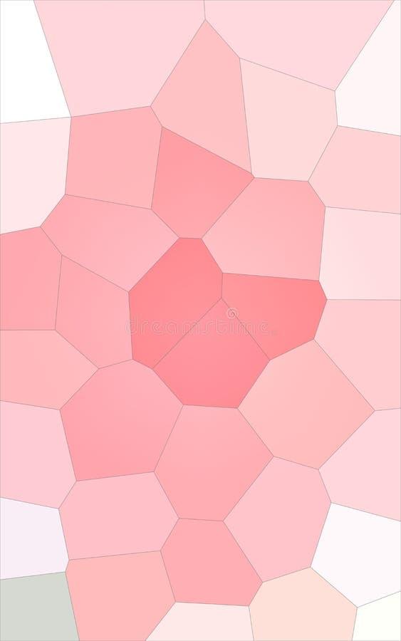 Ilustração abstrata do fundo gigante colorido branco e vermelho vertical do hexágono, gerada digitalmente ilustração royalty free