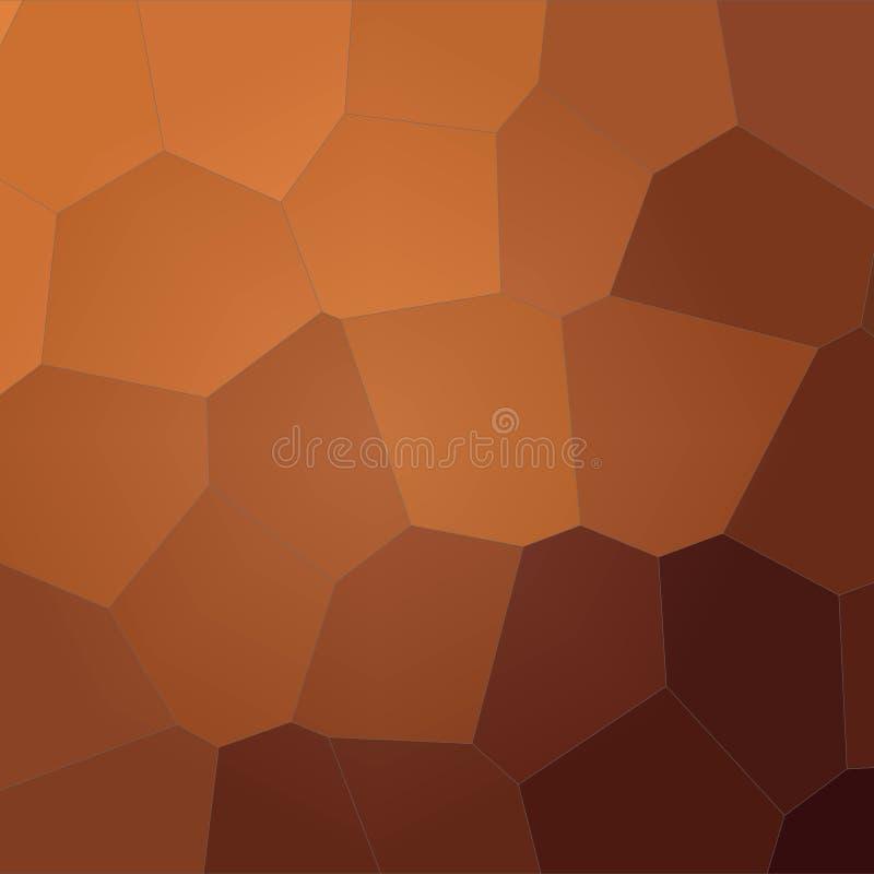 Ilustração abstrata do fundo gigante marrom quadrado do hexágono, gerada digitalmente ilustração stock