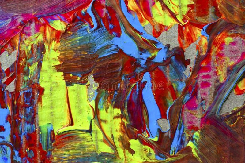 Ilustração abstrata do fundo, pintura vívida foto de stock