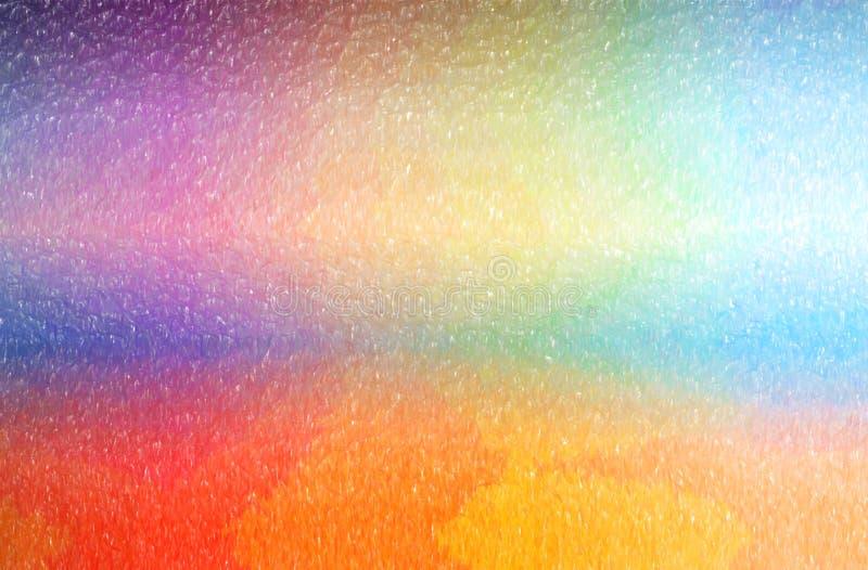 Ilustração abstrata do lápis alaranjado e azul da cor com fundo grande da cobertura ilustração do vetor