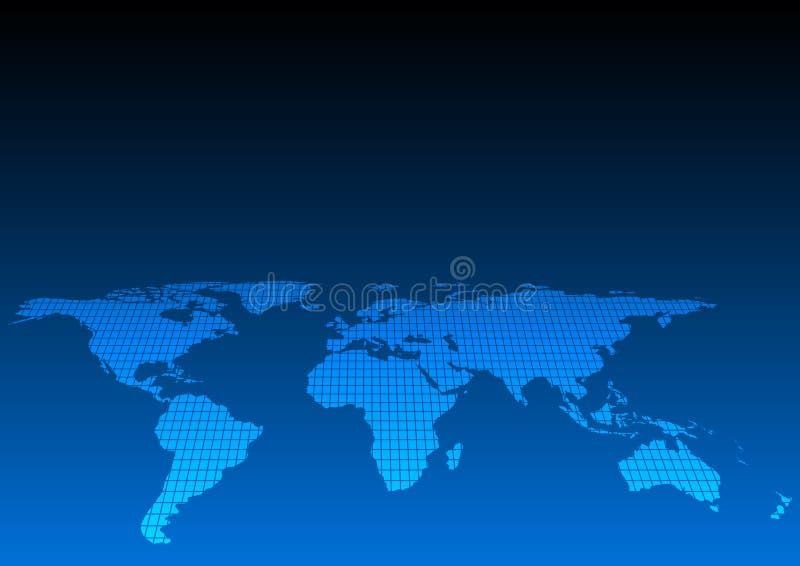 Ilustração abstrata do mapa do mundo alguns elementos deste ima ilustração do vetor