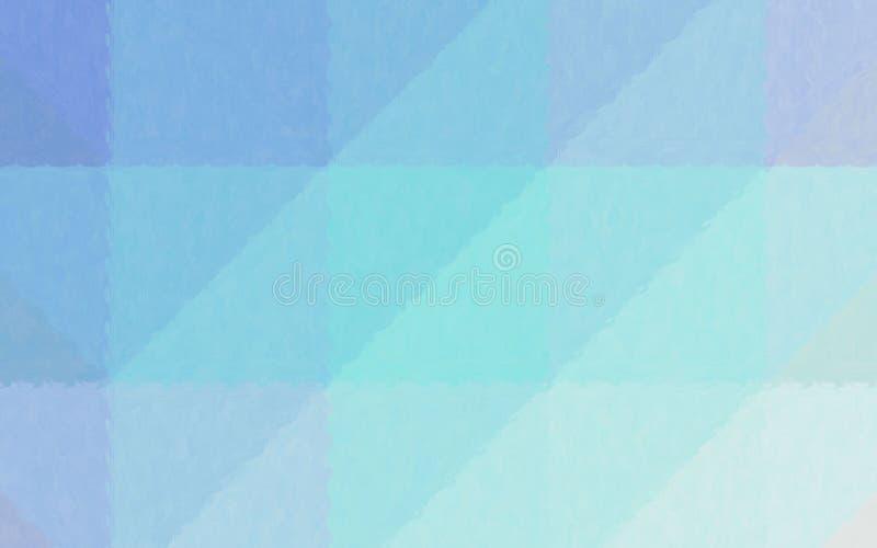 Ilustração abstrata do mosaico pastel azul e verde através do fundo dos tijolos de vidro, gerada digitalmente ilustração royalty free