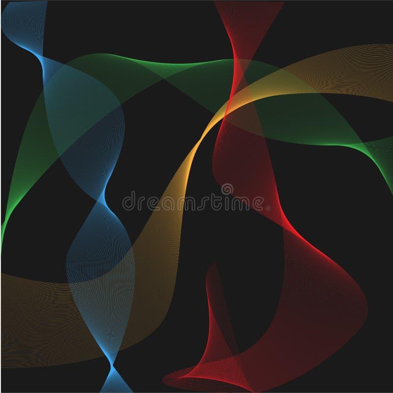 Ilustração abstrata do papel de parede da cor ilustração royalty free