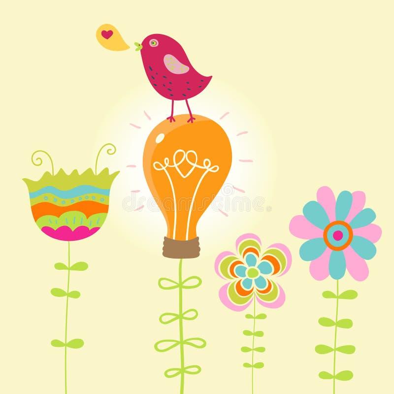 Ilustração abstrata do verão ilustração stock