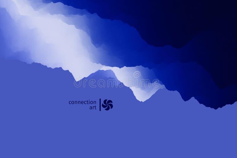 ilustração abstrata do vetor 3d Fundo ondulado Arte da conexão Teste padrão do projeto ilustração royalty free