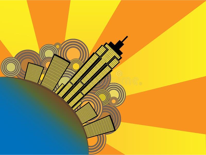 Ilustração abstrata do vetor da cidade ilustração stock