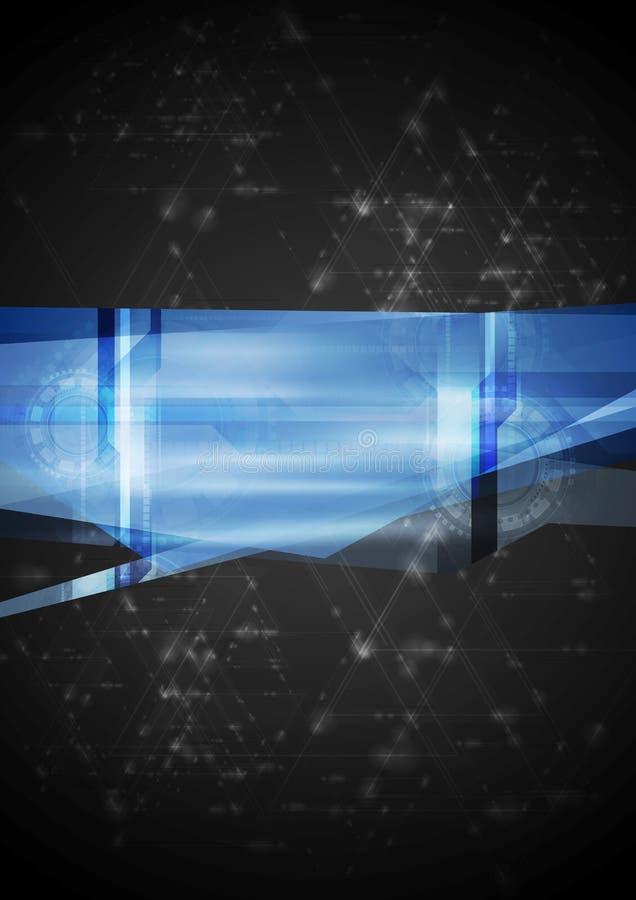 Ilustração abstrata do vetor da olá!-tecnologia