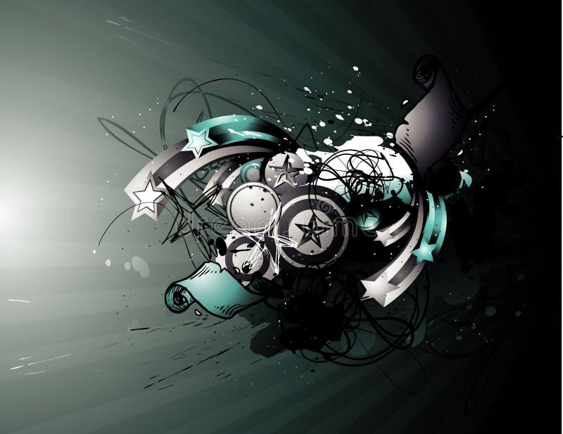 Ilustração abstrata do vetor de Grunge ilustração stock