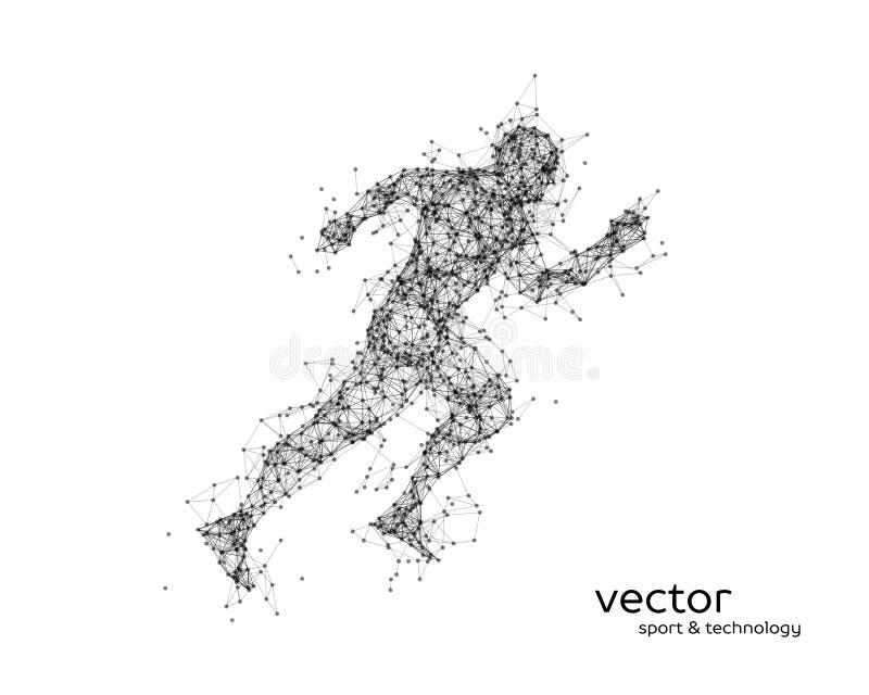 Ilustração abstrata do vetor de homem running ilustração royalty free