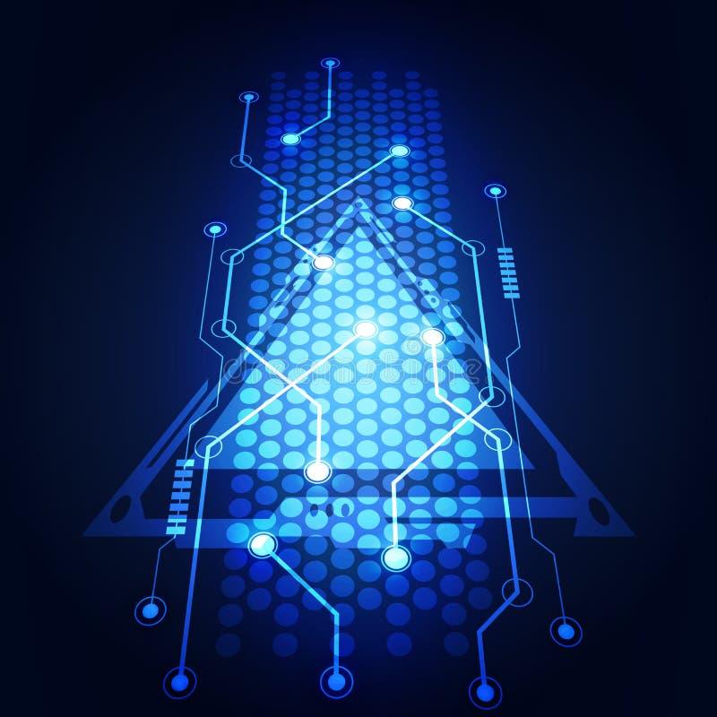 Ilustração abstrata do vetor do fundo do circuito da tecnologia ilustração stock
