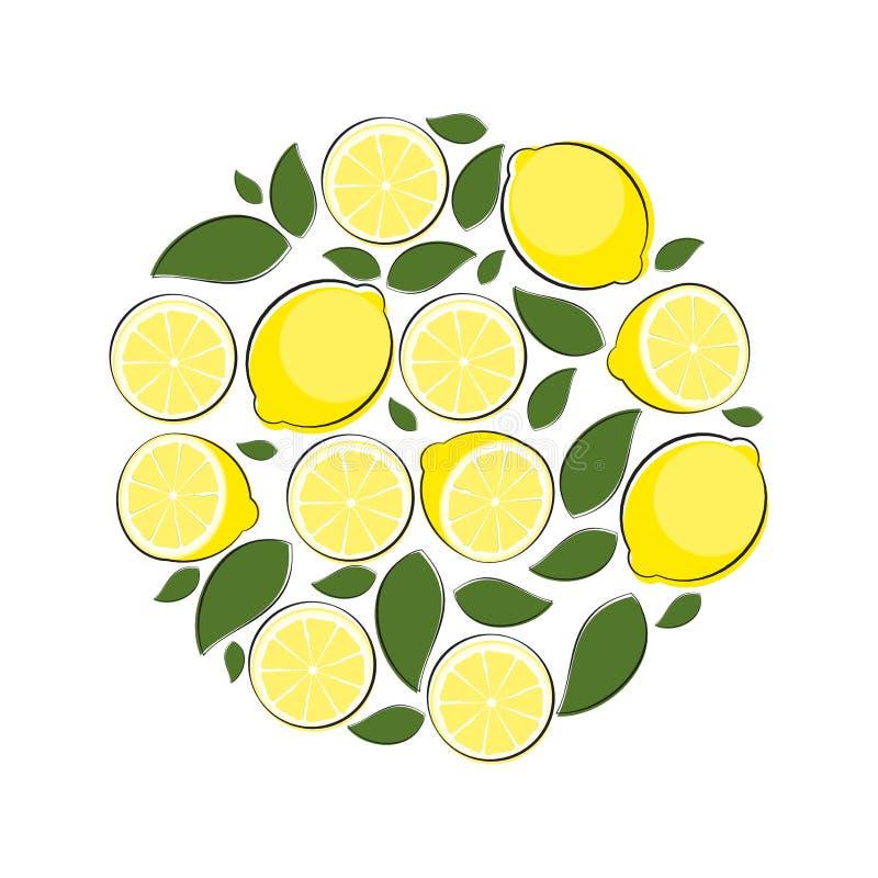 Ilustração abstrata do vetor do fundo natural do limão ilustração stock