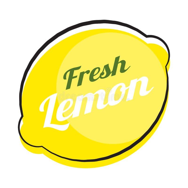 Ilustração abstrata do vetor do fundo natural do limão ilustração do vetor