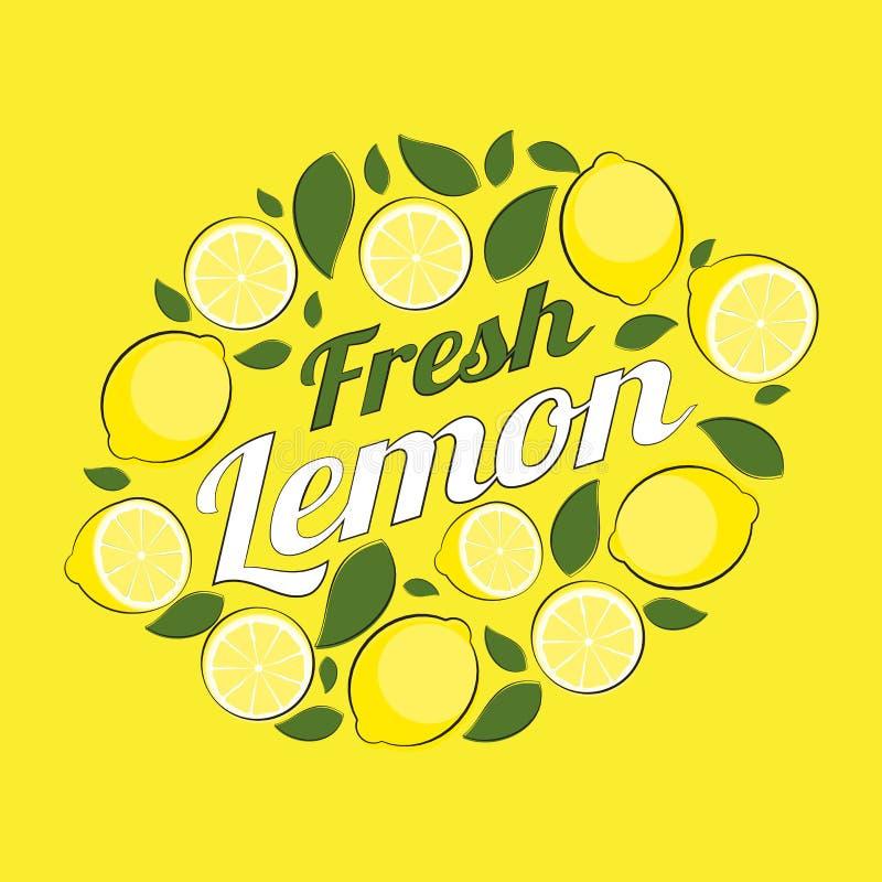 Ilustração abstrata do vetor do fundo natural do limão ilustração royalty free