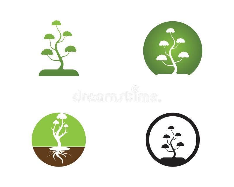 Ilustração abstrata do vetor do logotipo do ícone das árvores ilustração do vetor