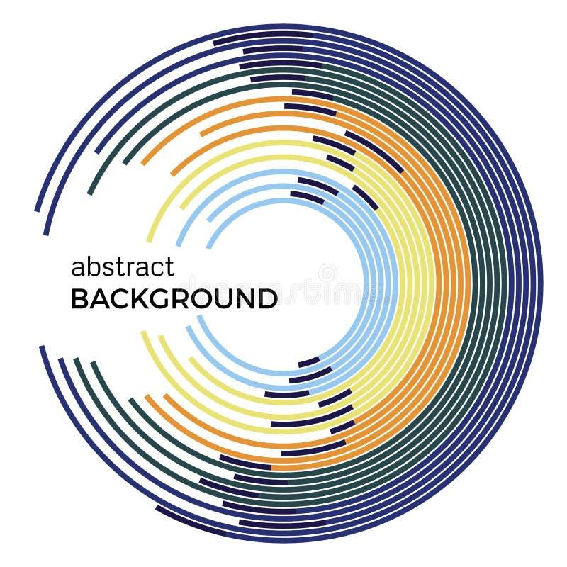 Ilustração abstrata do vetor que descreve círculos coloridos em um fundo branco ilustração do vetor