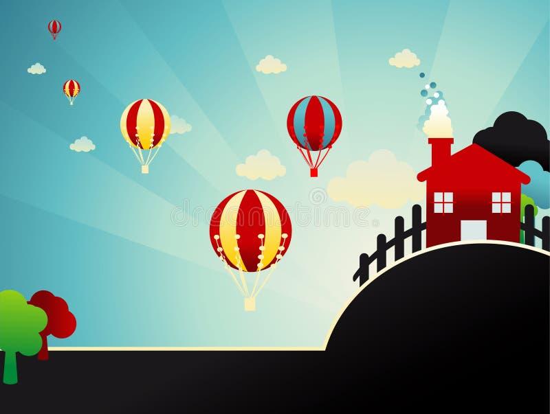 Ilustração abstrata dos globos ilustração royalty free