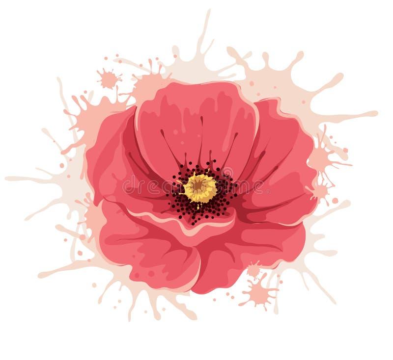 Ilustração abstrata -- flor da papoila ilustração royalty free