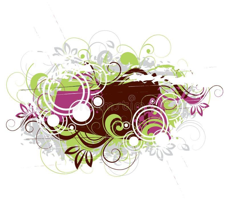 Ilustração abstrata floral ilustração do vetor