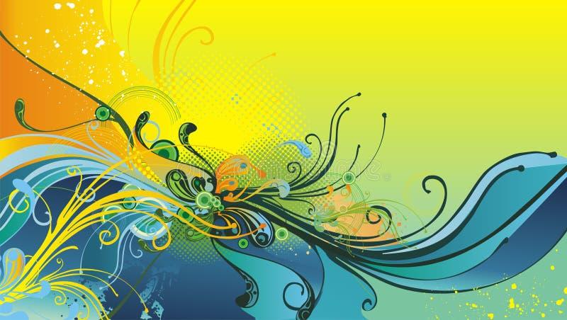 Ilustração abstrata floral ilustração royalty free