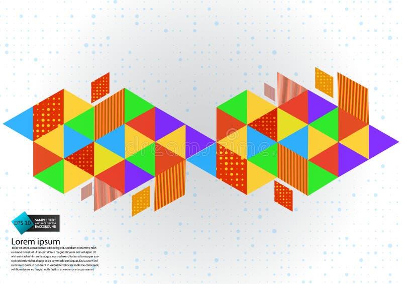 Ilustração abstrata geométrica colorida do vetor do fundo com espaço da cópia ilustração stock