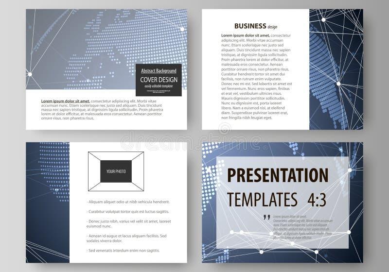 A ilustração abstrata minimalistic do vetor da disposição editável das corrediças da apresentação projeta o negócio ilustração stock