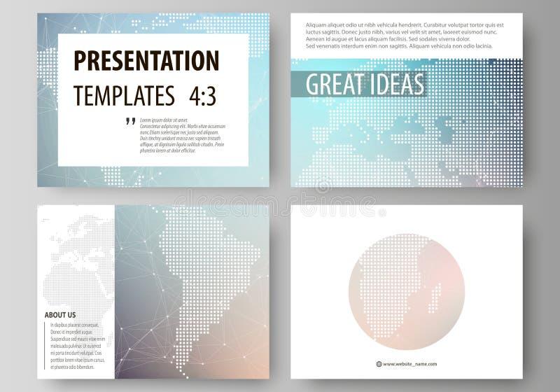 A ilustração abstrata minimalistic do vetor da disposição editável das corrediças da apresentação projeta o negócio ilustração royalty free