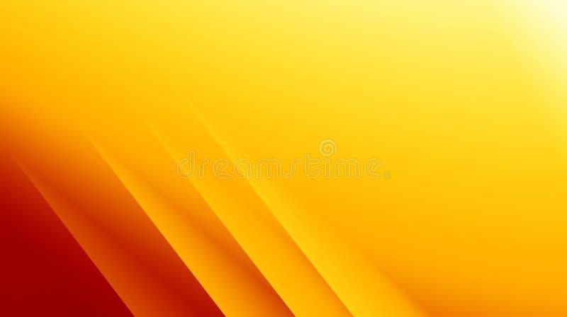 Ilustração abstrata moderna amarela do fundo do fractal do vermelho alaranjado com linhas diagonais paralelas Espaço do texto Neg ilustração royalty free