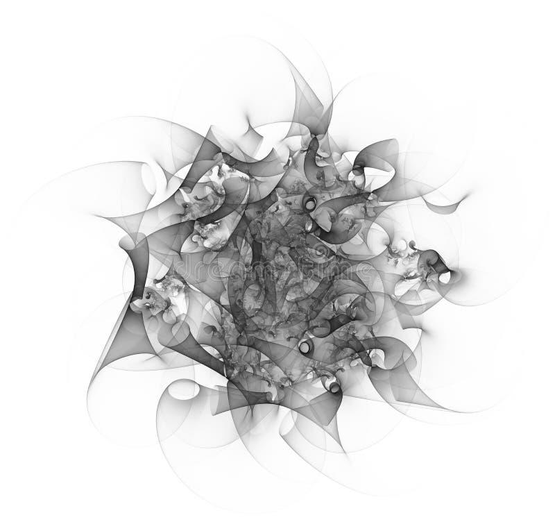 Ilustração abstrata monocromática do fractal ilustração royalty free