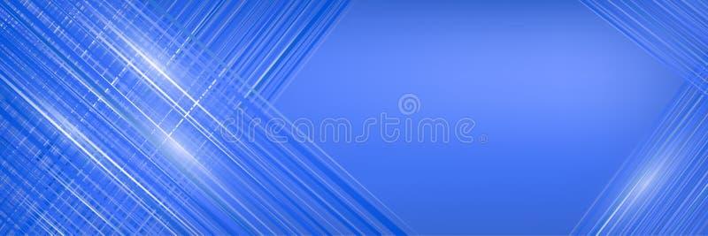 Ilustração abstrata no azul Bandeira da amostra para anunciar ilustração stock