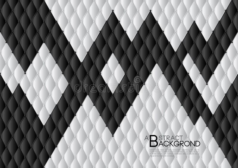 Ilustração abstrata preto e branco do vetor do fundo, disposição do molde de tampa, inseto do negócio, luxo de couro da textura ilustração do vetor