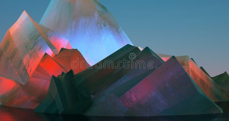 Ilustração abstrata sobre cristais coloridos ilustração do vetor