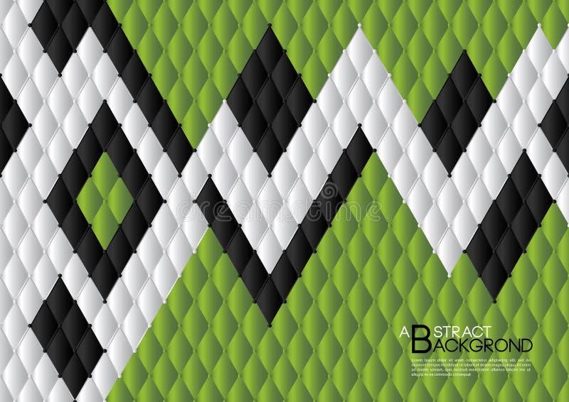 Ilustração abstrata verde do vetor do fundo, disposição do molde de tampa, inseto do negócio, luxo de couro da textura ilustração royalty free