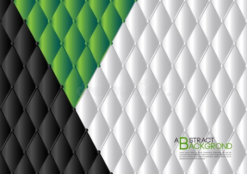 Ilustração abstrata verde do vetor do fundo, disposição do molde de tampa, inseto do negócio, luxo de couro da textura ilustração stock
