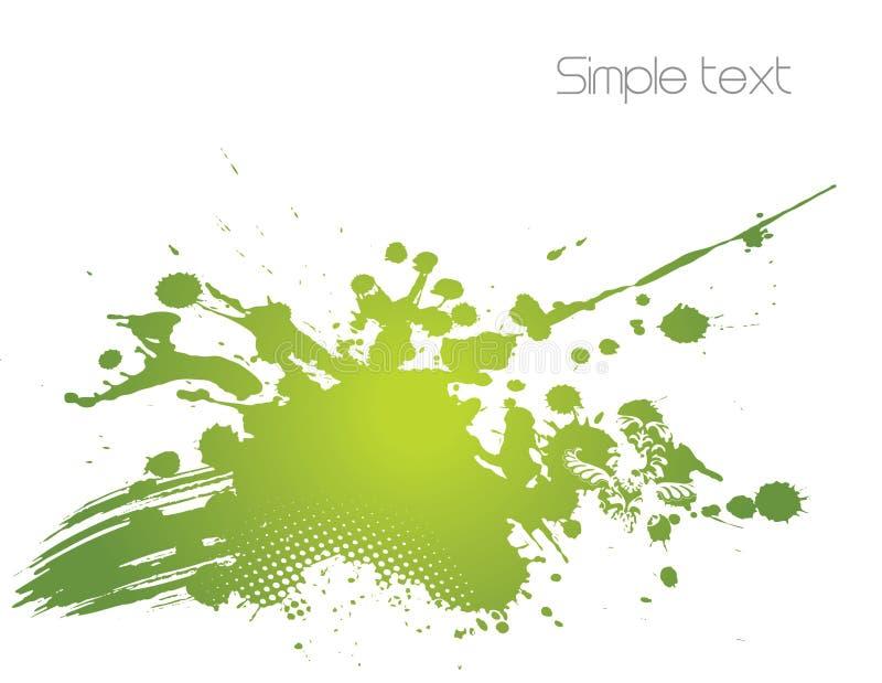 Ilustração abstrata verde. Vetor ilustração stock