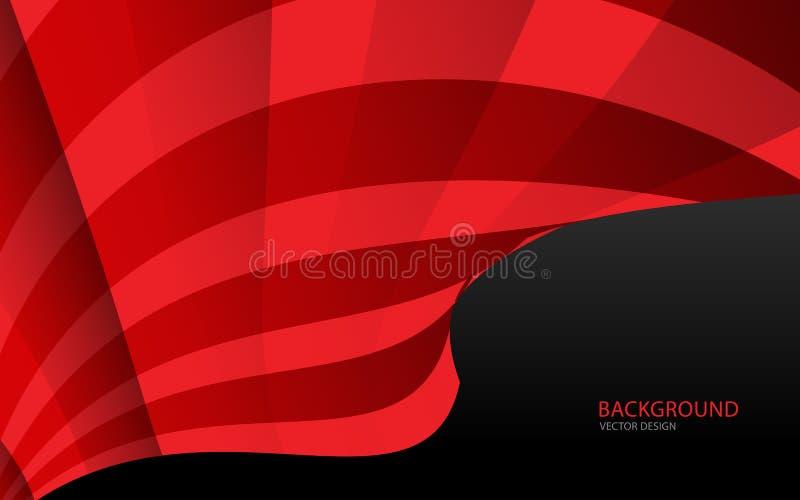 Ilustração abstrata vermelha do vetor do fundo parede Bandeira do Web tampa cartão Textura wallpaper Inseto ilustração do vetor