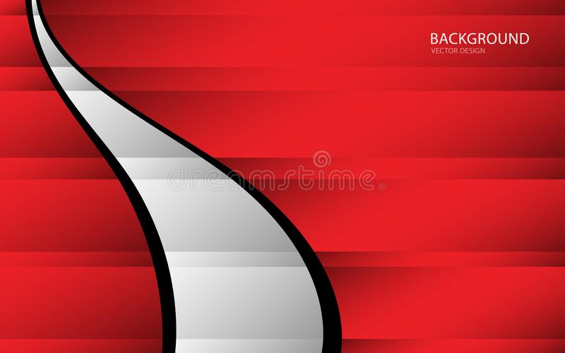 Ilustração abstrata vermelha do vetor do fundo parede Bandeira do Web tampa cartão Textura wallpaper Inseto folheto Informe anual ilustração stock