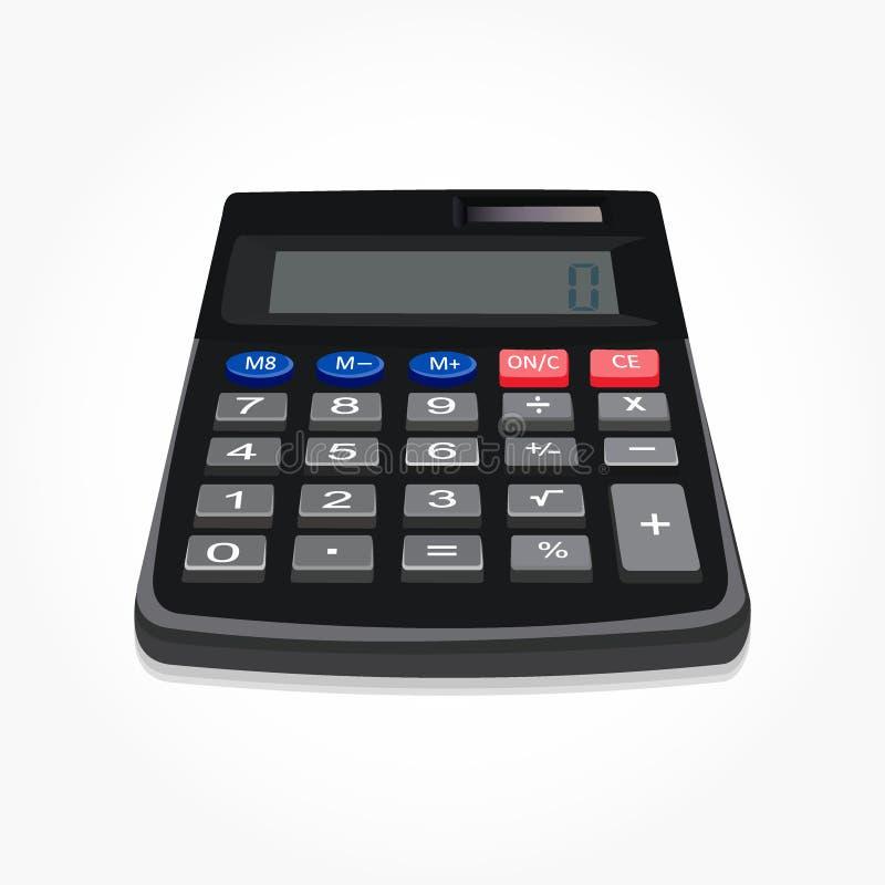 Ilustração acessível realística do vetor da máquina da calculadora ilustração stock