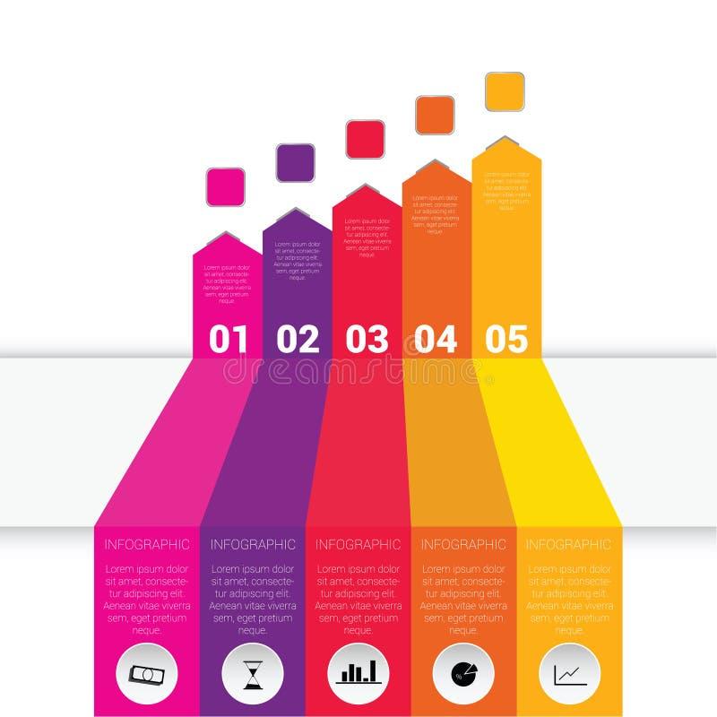 Ilustração ajustada de Infographic com ícone ilustração stock
