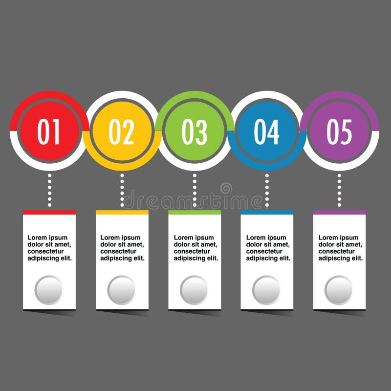 Ilustração ajustada do círculo de Infographic no cinza ilustração royalty free