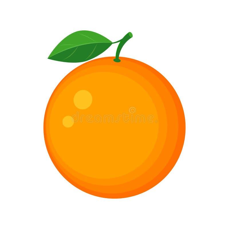 Ilustração alaranjada suculenta colorida do vetor do fruto isolada no whit ilustração stock