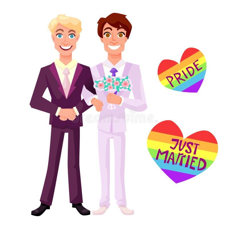 Ilustração alegre do casamento ilustração royalty free